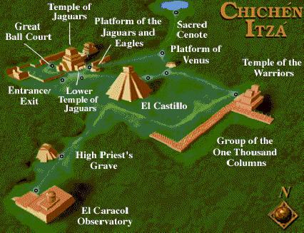 Plano 3D Chichén Itzá