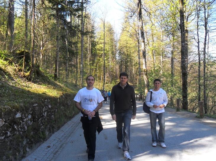 Caminando Castillo Neuschwanstein