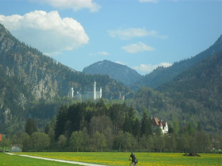 Neuschwanstein desde la carretera