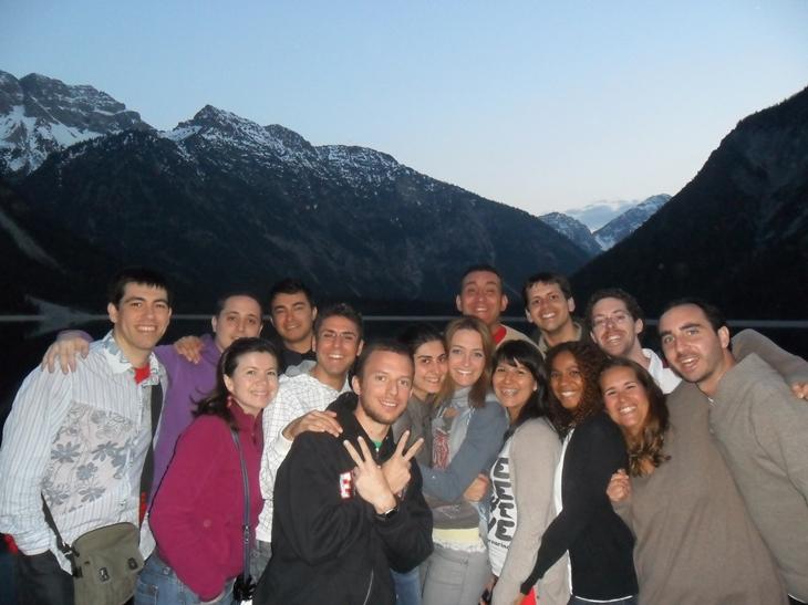Grupo de 21W en Neuschwanstein
