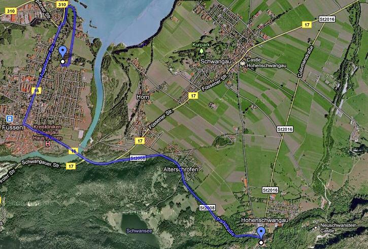 Mapa Fussen Castillo