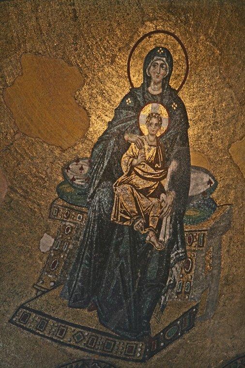 Ábside de mosaicos de Santa Sofía