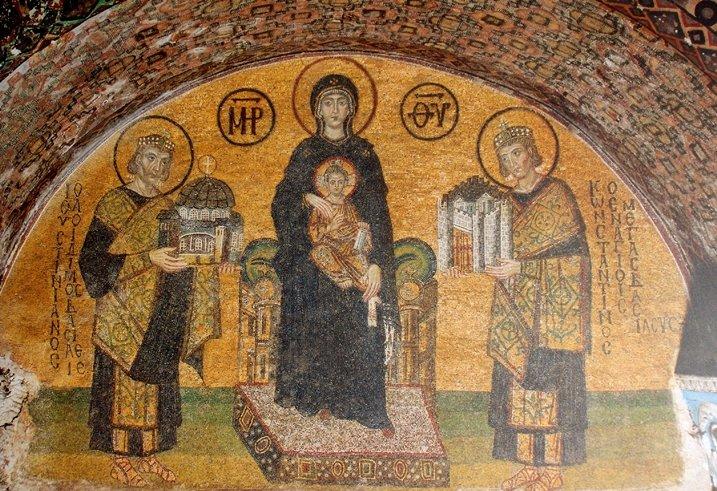 Mosaicos de entrada suroeste de Santa Sofía