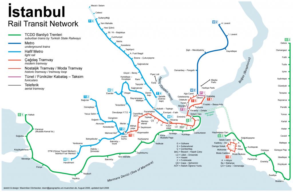 Plano transportes Istambul