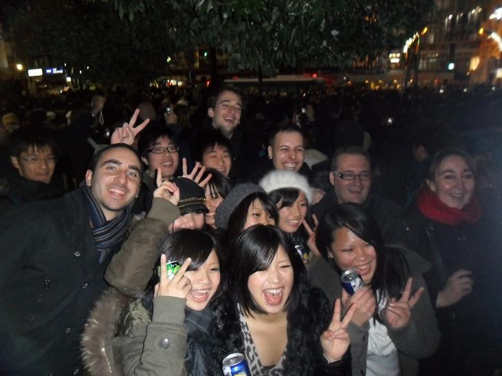 Celebracion con japoneses