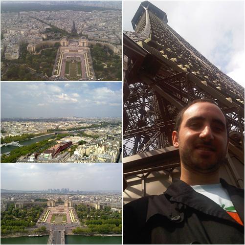La Torre Eiffel desde arriba