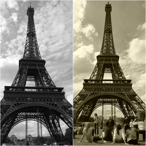 Torre Eiffel artística