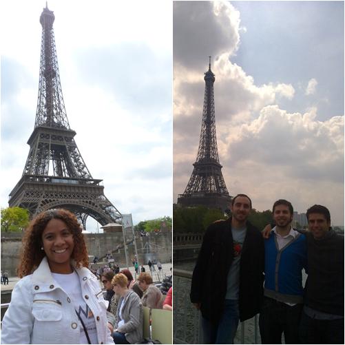 Torre Eiffel con amigos
