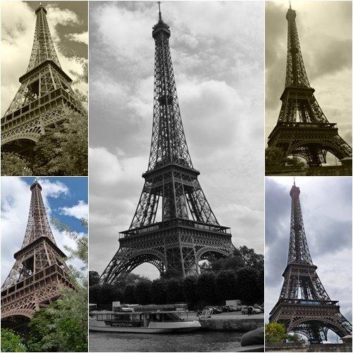 10 vistas diferentes de la Torre Eiffel