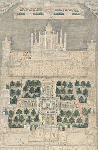 Pintura del Taj Mahal