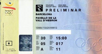 Entrada Barcelona'92