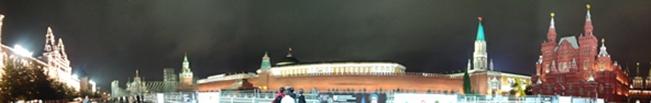Panorámica de la Plaza Roja de Noche