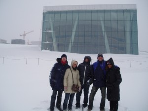 El grupo en la ópera de Oslo