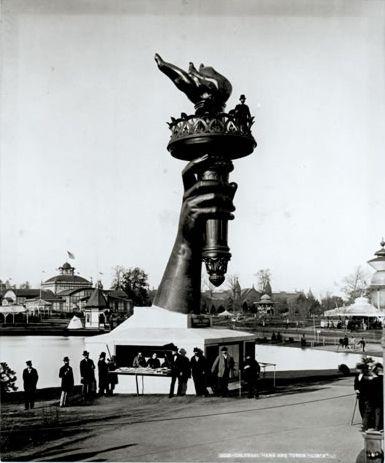Llama de la estatua de la libertad