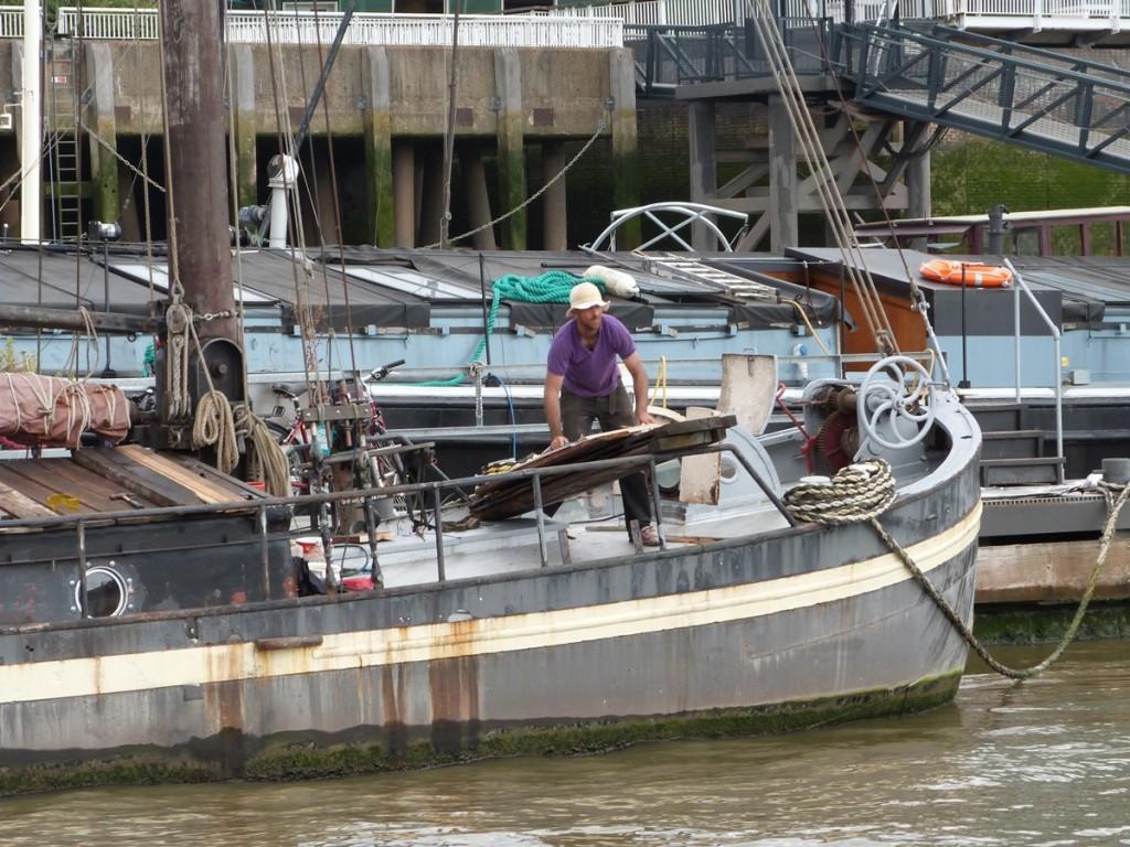 Pescador en el Tamesis