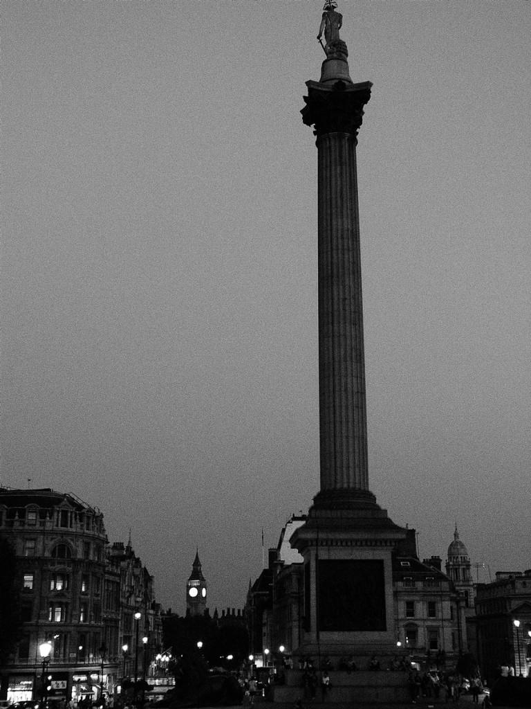 Trafalgar Square al atardecer
