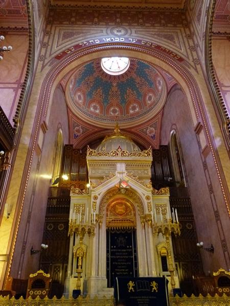 Interior de la Sinagoga de Budapest