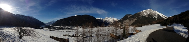 Paisaje nevado del Tirol austríaco