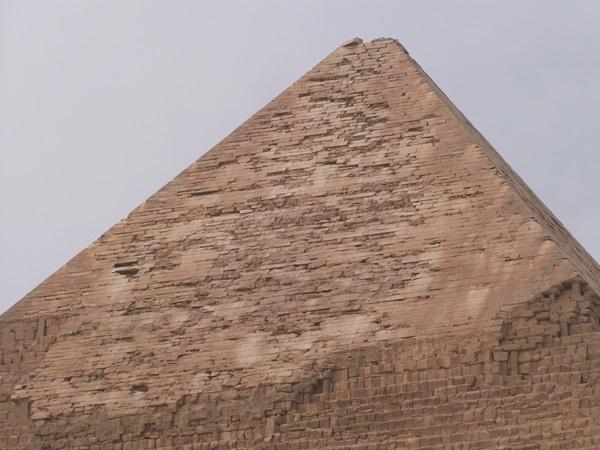 Detalle de piramide de Kefren