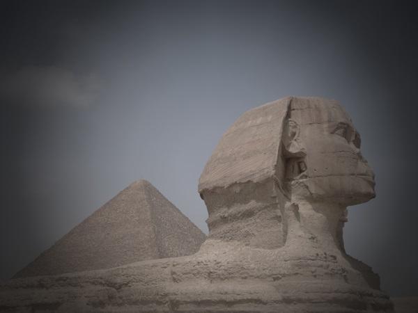 La Esfinge y la piramide de Kefren