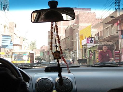 Taxi camino de Dashur