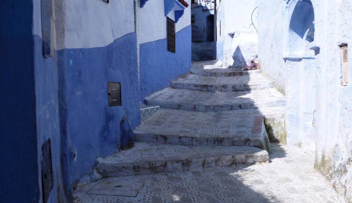 Las azules y blancas calles de Chefchaouen