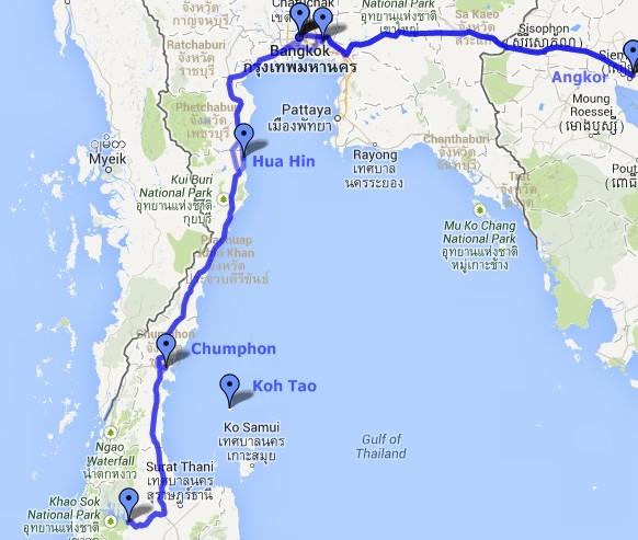Itinerario de Tailandia y Camboya