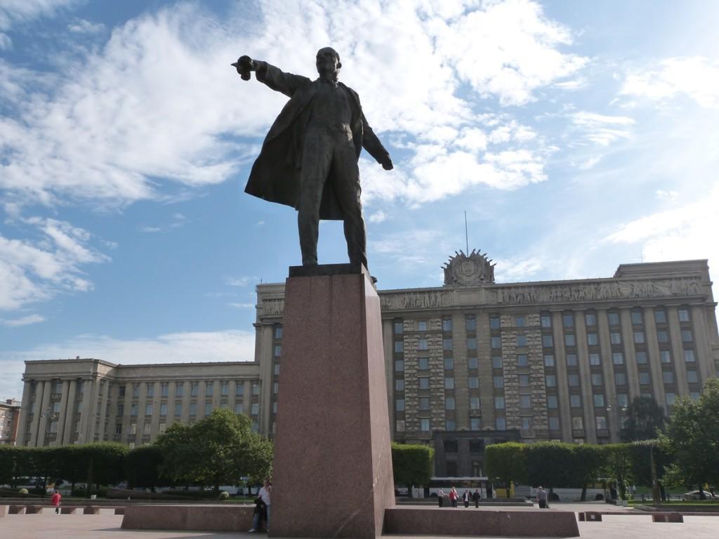 Lenin en la plaza de Moskovskaya