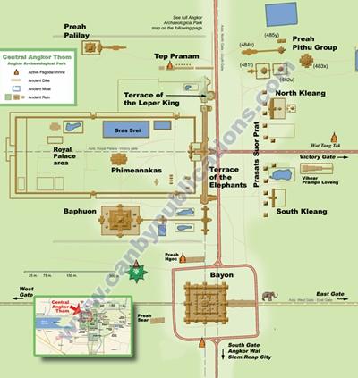 Plano de Angkor Thom