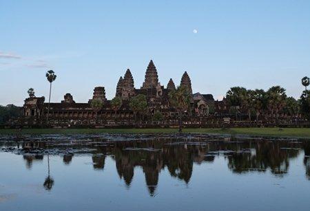Atardecer en Angkor Wat