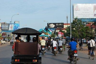Tráfico de Siem Reap
