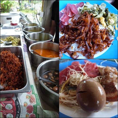 Comida en la entrada de Khao Sok