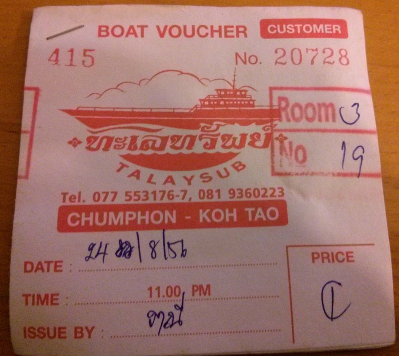 Tickets Ferry Chumphon