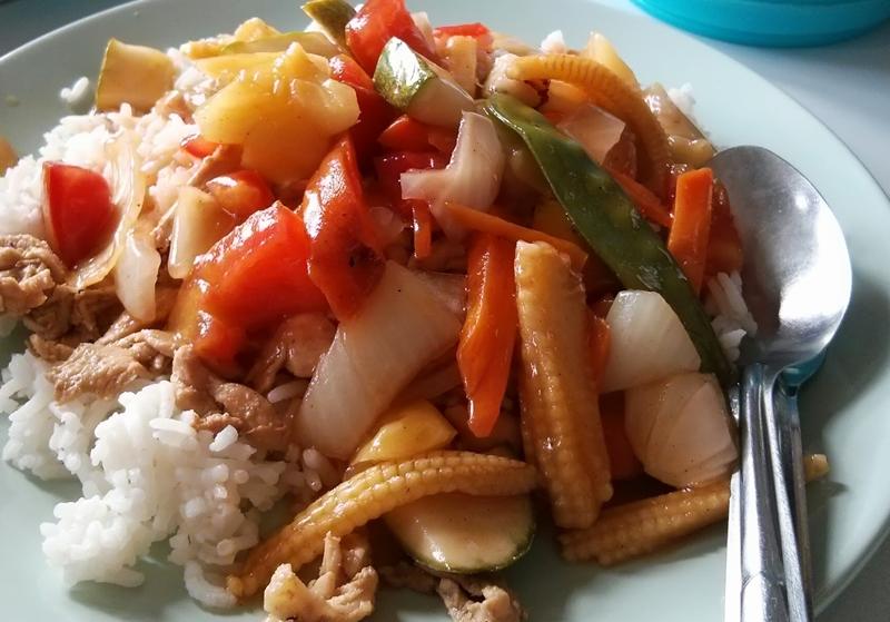 Verduras con arroz