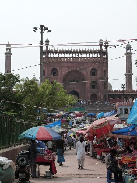 Bazar y Jama Masjid en Delhi