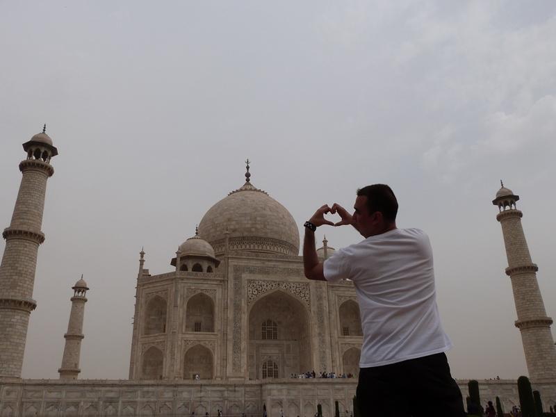 Todo corazón en el Taj Mahal