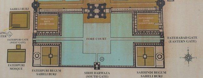 Plano de acceso al Taj Mahal
