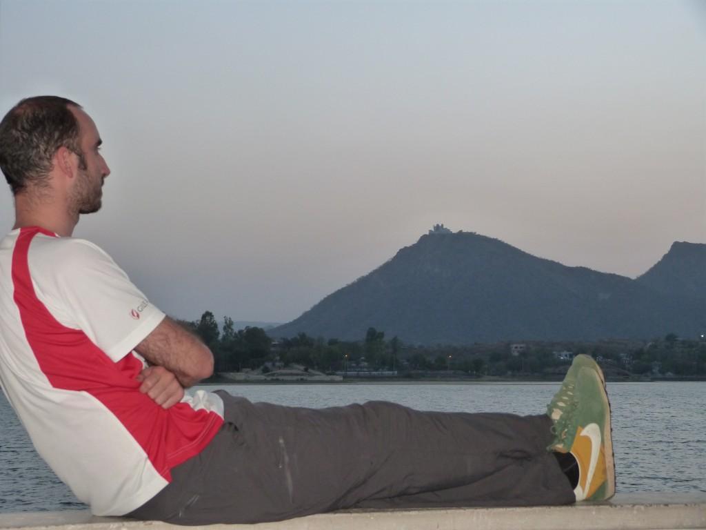 Reflexionando en Udaipur (India)