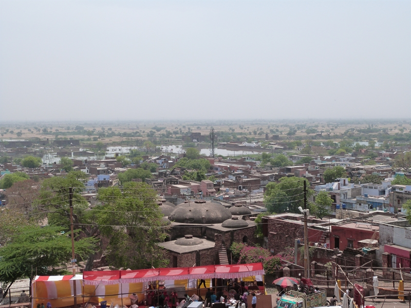 Vista de la actual Fatehpur Sikri desde la Buland Darwaza