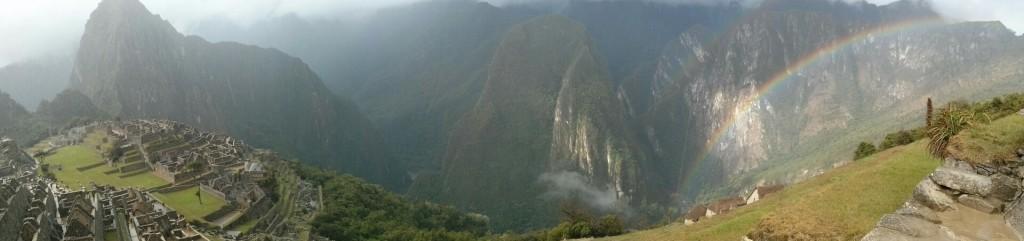 Arco iris en Machu Picchu