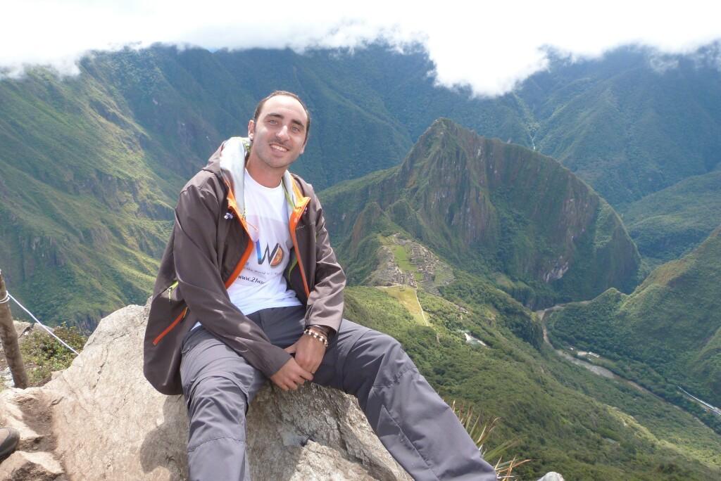 Feliz en Machu Picchu
