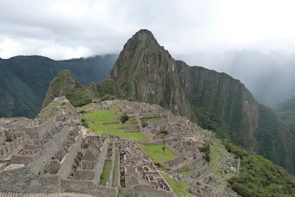 Machu Picchu desde el puente inca