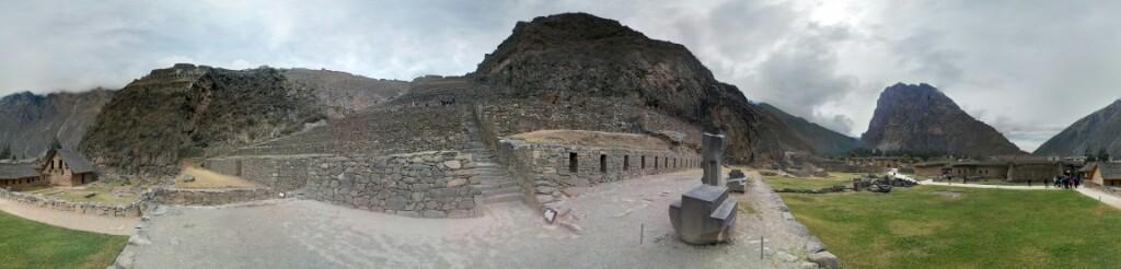 Vista general de Ollantaytambo