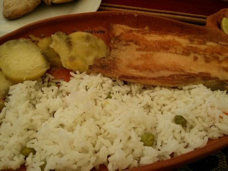 Trucha con arroz