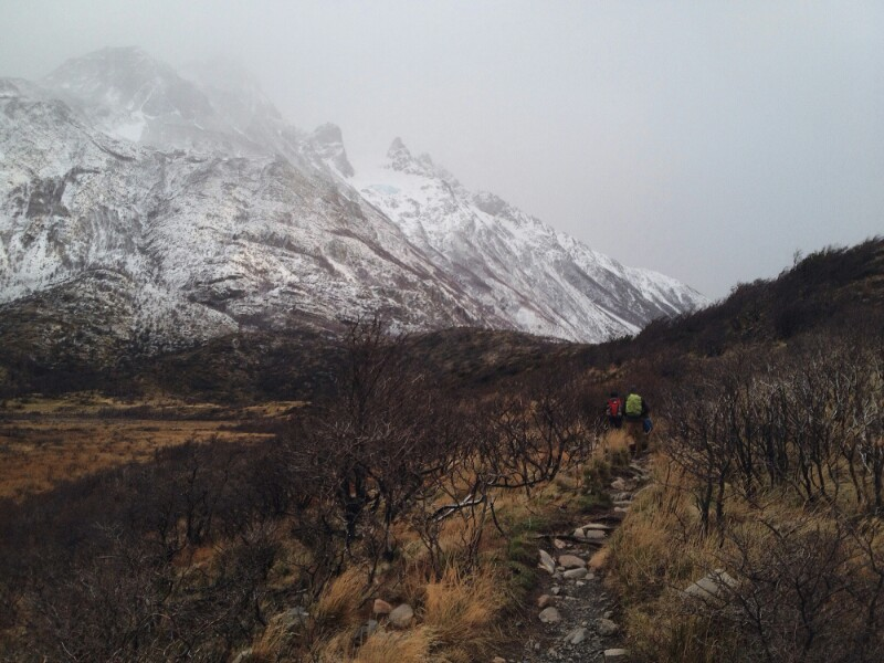 Sendero en Torres del Paine