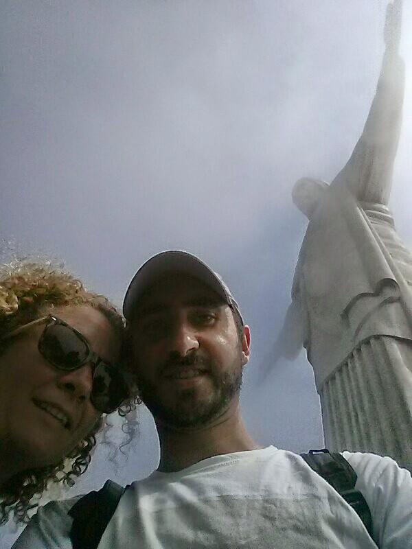 Con Olga visitando la maravilla~2