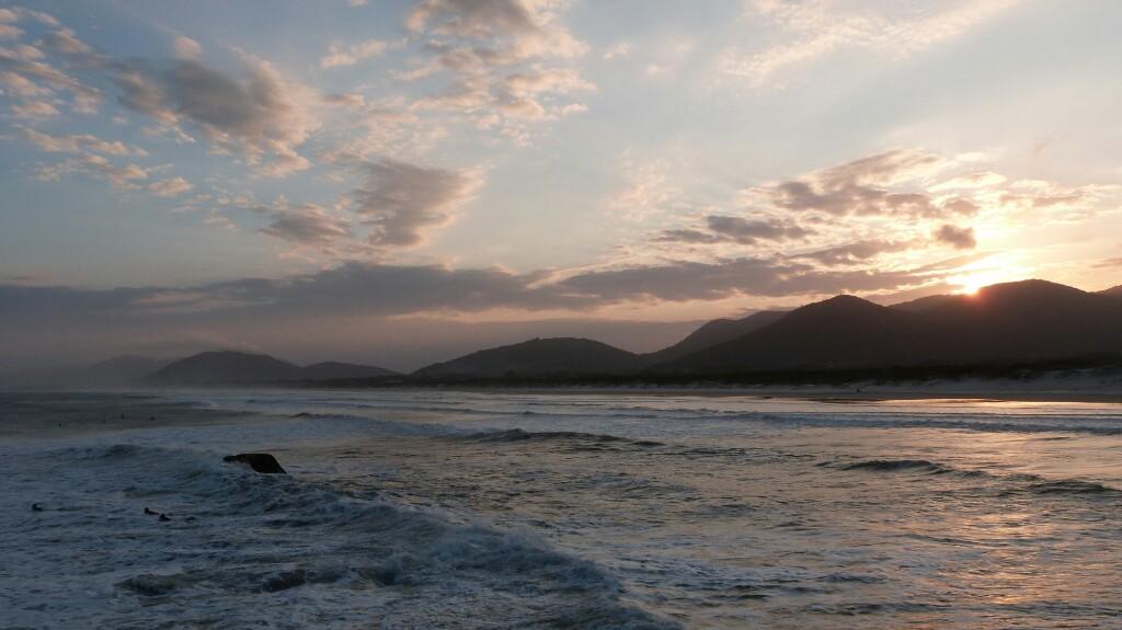 Espectacular atardecer en Florianópolis