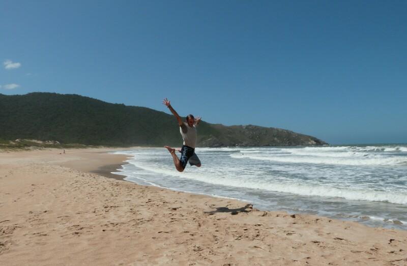 Sobrevolando la playa de Lagoinha do Leste