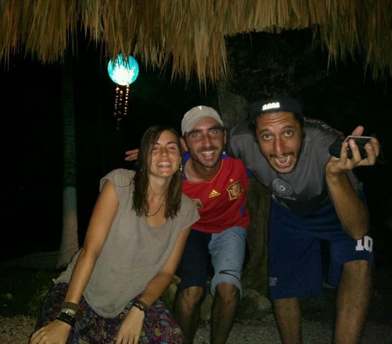 Con Carri e Irene en Bacalar