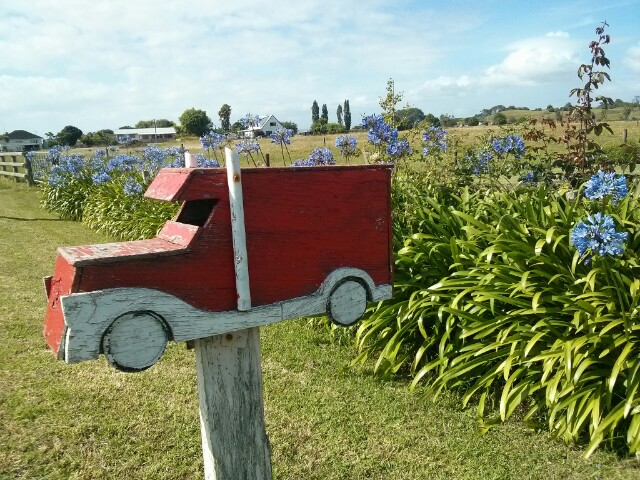 Buzón de camión en Nueva Zelanda